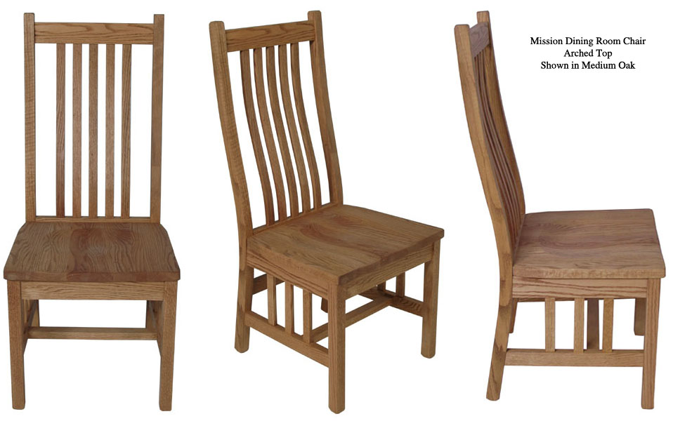 oak mission dining room chair with arms