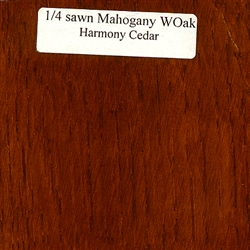 Quarter Sawn White Oak Wood Sample Mahogany Finish