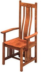 Hickory Zen Dining Room Chair With Arms